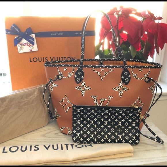 Bnib Louis Vuitton neverfull jungle limited bag